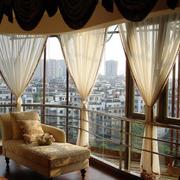 素雅美式别墅窗帘设计