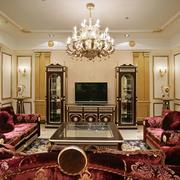 古典法式客厅吊顶设计