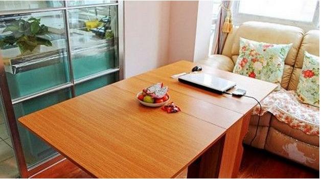 现代 简约便捷折叠 式餐桌效果图 齐装网装修效果图