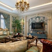 唯美法式客厅吊顶设计