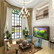 清新美式别墅窗帘设计