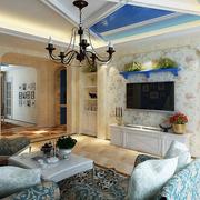 时尚地中海客厅吊顶设计