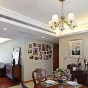 时尚美式客厅隔断装修设计