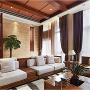 简洁时尚别墅客厅窗帘