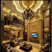 奢华美式别墅电视背景墙设计