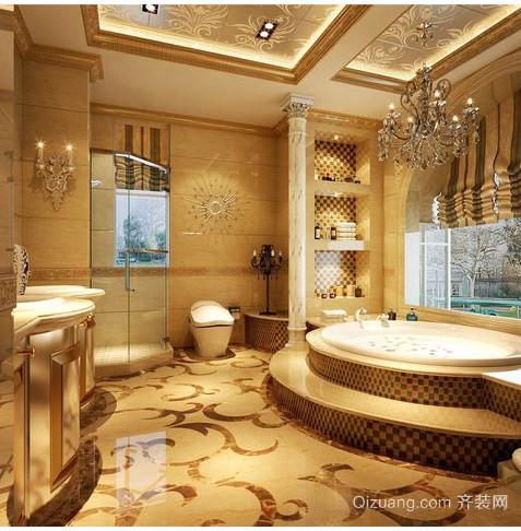 美式别墅精美窗帘装修效果图