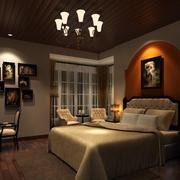大气地中海卧室背景墙装修