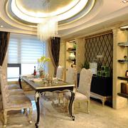 典雅欧式餐厅吊顶装修设计