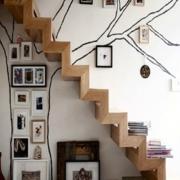 时尚楼梯照片墙装修