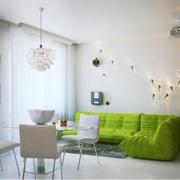 自然女式公寓客厅沙发装修