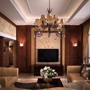 精致美式客厅装修