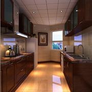 复古中式厨房橱柜装修设计