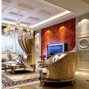 大气东南亚别墅窗帘装修设计