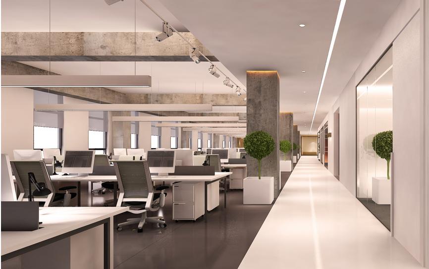 廊吊顶 装修 效果图 齐装网装 现代简约 办公室走廊吊顶 装修 效果图