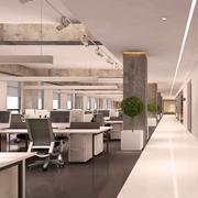 潮流现代办公室走廊吊顶设计