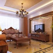 华美美式客厅设计