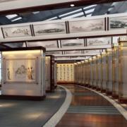 唯美中式书画展厅装修