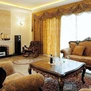 靓丽美式别墅窗帘设计
