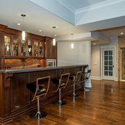 经典美式家庭吧台装修设计