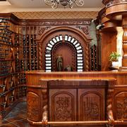 经典欧式别墅酒柜装修