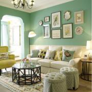自然沙发背景装修设计