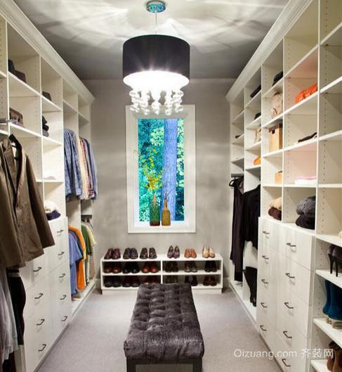 120平米三室两厅两卫步入式衣帽间装修效果图