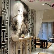 复古中式客厅装修设计