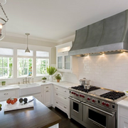 田园大户型厨房橱柜设计