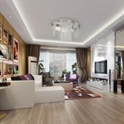 简约家庭客厅电视墙瓷砖装修