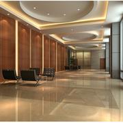华美现代办公室走廊吊顶设计
