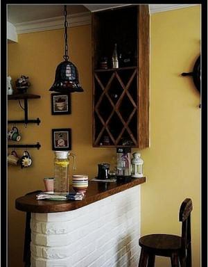 小户型现代都市奶茶店吧台装修效果图