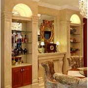 典雅欧式别墅酒柜设计