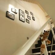 都市楼梯照片墙装修