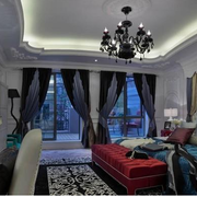 大气地中海别墅卧室装修设计