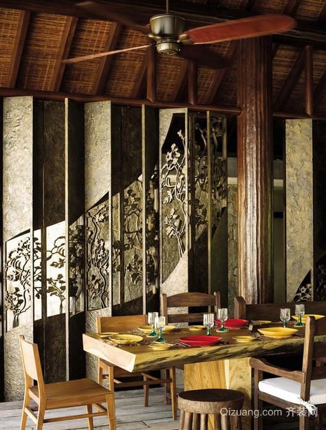 2015三居室东南亚风格客厅装修效果图