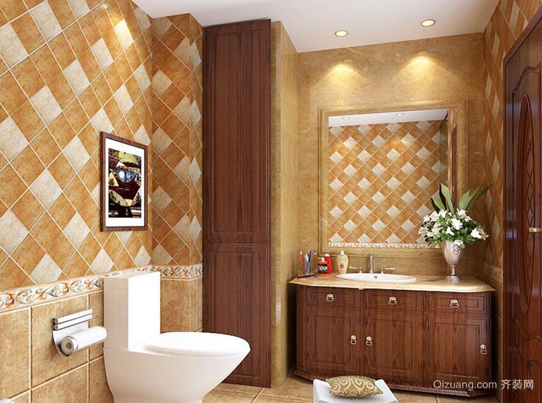 格调浪漫的法式卫生间设计装修效果图鉴赏