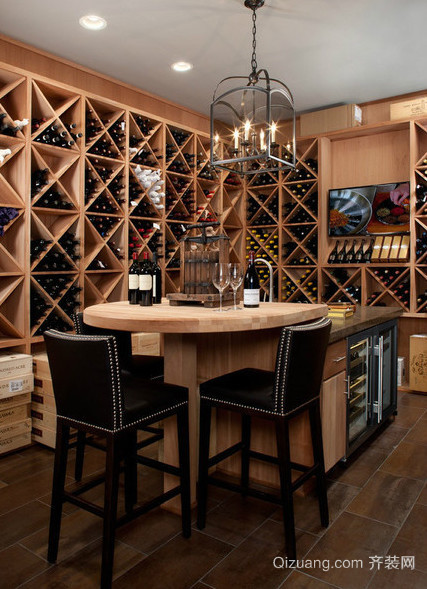 120平米豪华型都市客厅酒柜装修效果图
