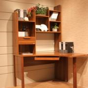 复古小书房桌柜装修设计