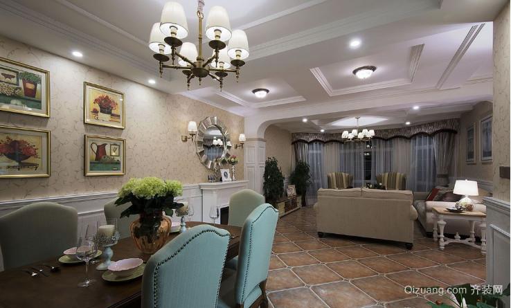 现代美式客厅隔断装修效果图