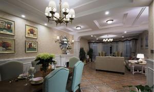 精致美式客厅隔断装修设计