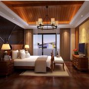 素雅东南亚别墅卧室装修