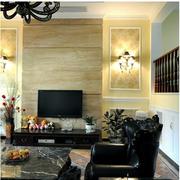 时尚欧式别墅客厅电视背景墙设计
