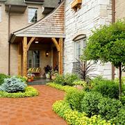浪漫大型别墅入户花园装修