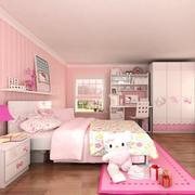 精致小女生卧室墙衣效果图