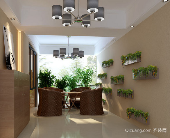 120平米家庭入户花园装修效果图