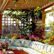 清新大型别墅入户花园装修