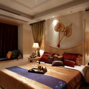经典素雅东南亚卧室飘窗设计