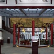 温馨中式书画展厅装修