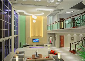 2015大户型豪华别墅楼中楼装修效果图