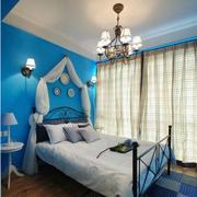 素雅地中海卧室背景墙装修
